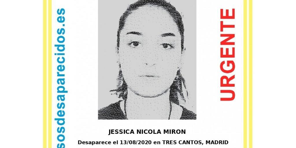 Piden colaboración ciudadana para localizar a una joven de 15 años desaparecida en Tres Cantos