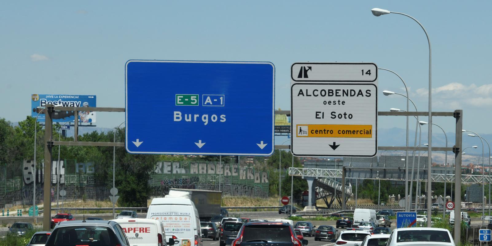 Un 16 % más de desplazamientos de salida de Madrid la víspera de Semana Santa