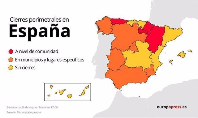 Aragón y Asturias también cierran sus fronteras contra la Covid